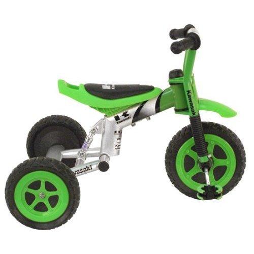 Kawasaki Tricycle 10 Inch Wheels Suspension Forks BoyS Trike Green