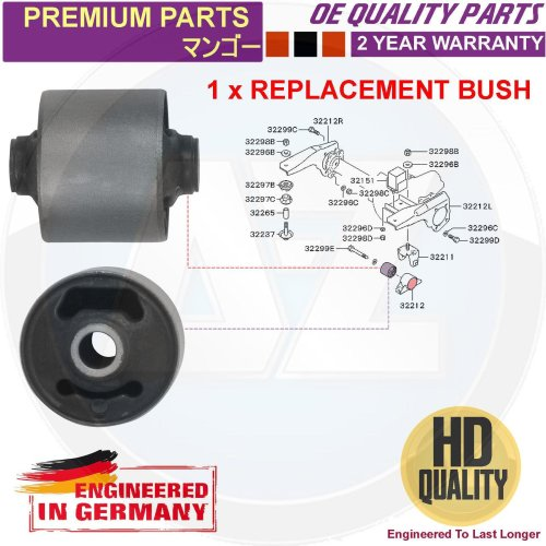 FOR MITSUBISHI L200 K74 01-07 FRONT ARM HOLDER DIFFERENTIAL MOUNTING BUSH