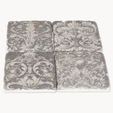 Ceramic Coasters Penrose Scroll Design