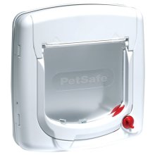 PetSafe Manual 4-Way Cat Flap Deluxe 300 White 5002