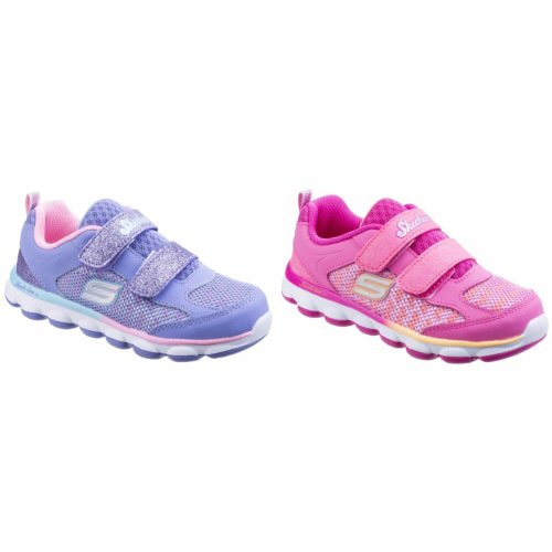 Skechers Childrens Girls SK82113N Lil Jumpers Touch Fasten Sports Trainers