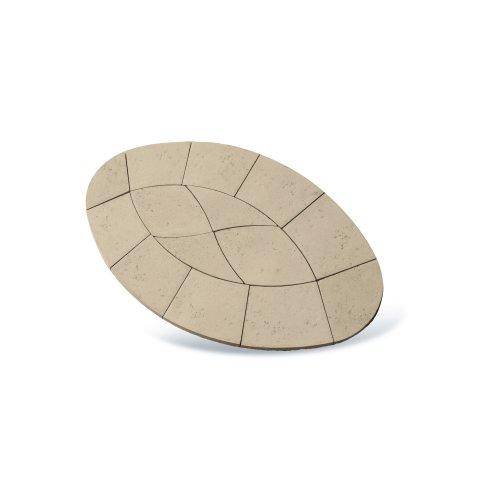 Piccolo Oval Paving Patio Kit 2.64m2 Limestone