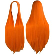 Center Parting Long Straight Cosplay Wig for Halloween Anime Fans [Orange]