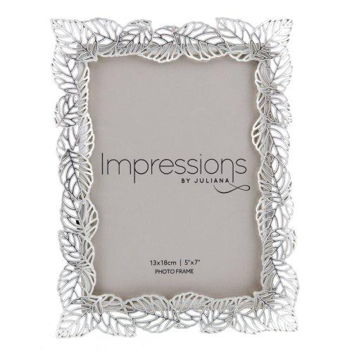 Impressions Silverplated Filigree Leaf Frame 5' x 7' - FS73857