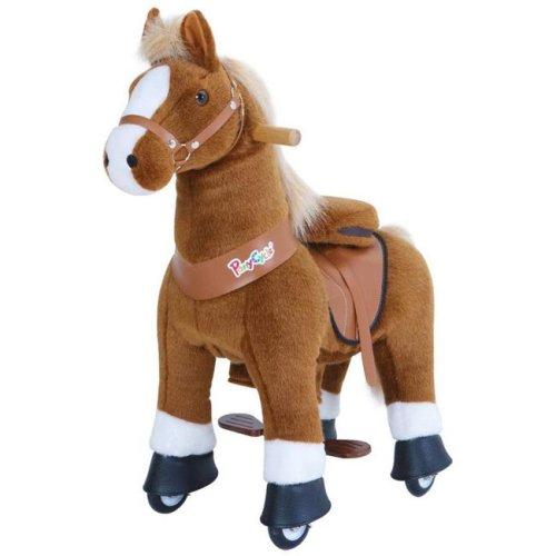 PonyCycle U426 Ride-On Black Horse with White Hoof - Medium