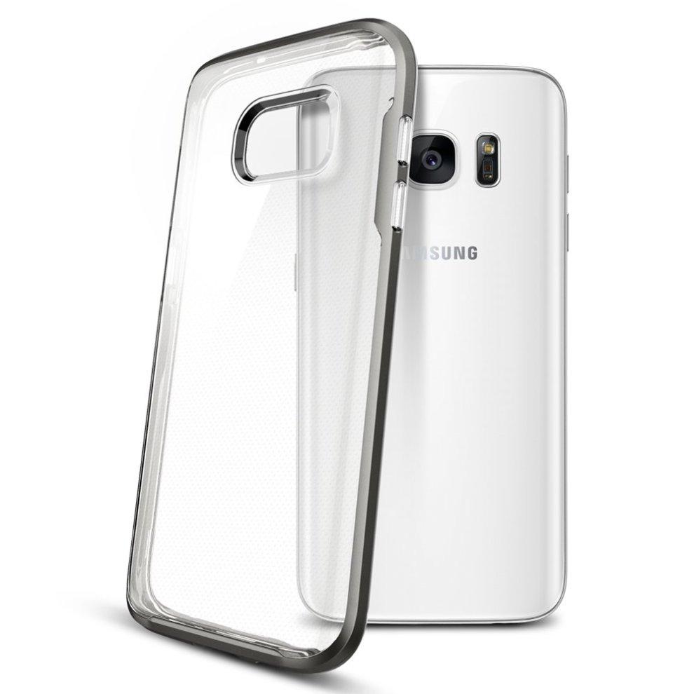 cheap for discount 9f625 4a09b Galaxy S7 Case 555CS20022 Spigen [Neo Hybrid Crystal] PREMIUM BUMPER Clear  TPU / PC Frame Slim Dual Layer Premium Case for Samsung Galaxy S7 (2016)...