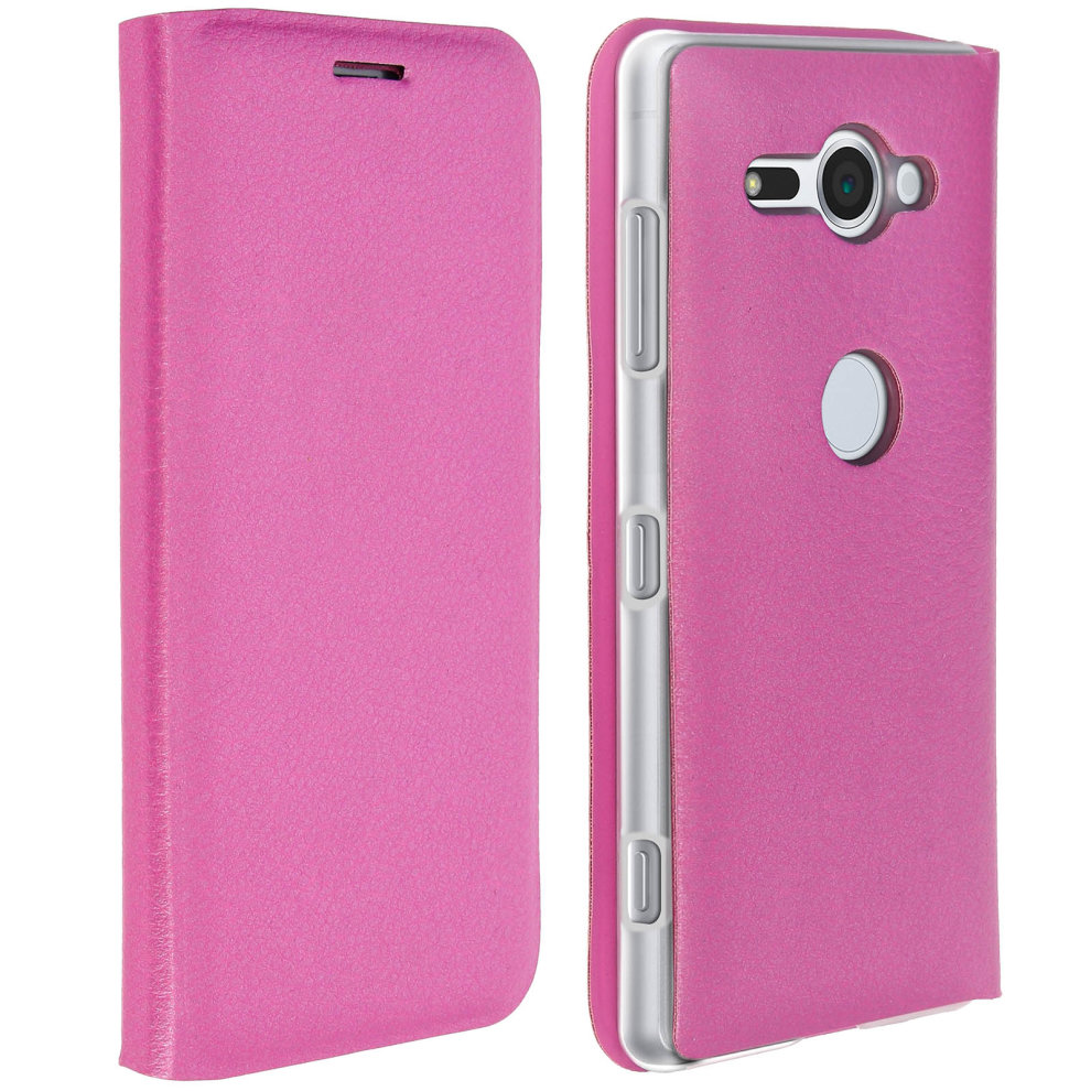 Flip Book cover, wallet case with stand for Sony Xperia XZ2 Compact - Pink