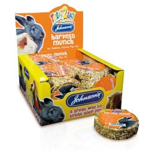 Harvest Munch For Rabbits And Guinea Pigs - Johnsons 70g Treat Vet Etc -  harvest munch guinea johnsons 70g rabbits pigs treat vet etc