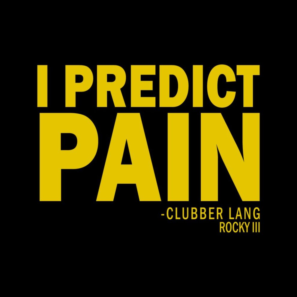 70dd583fb8a0 Rocky Clubber Lang I Predict Pain Men's T-Shirt on OnBuy