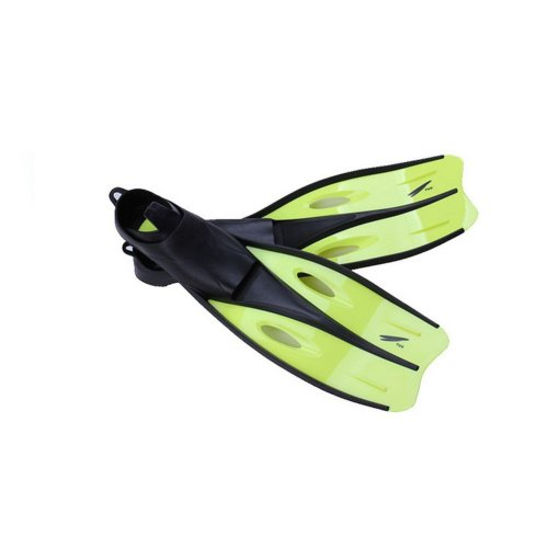 Diving Equipment Women Freediving Fins Yellow Long Snorkeling Fins, US Size 6-8