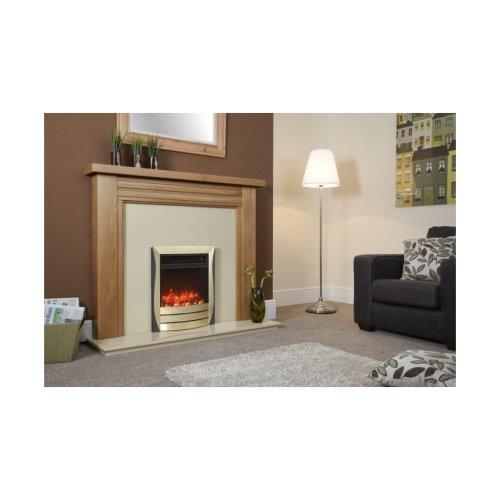 """Designer Fire Electric - Celsi Lamela Brass and Black 16"""""""