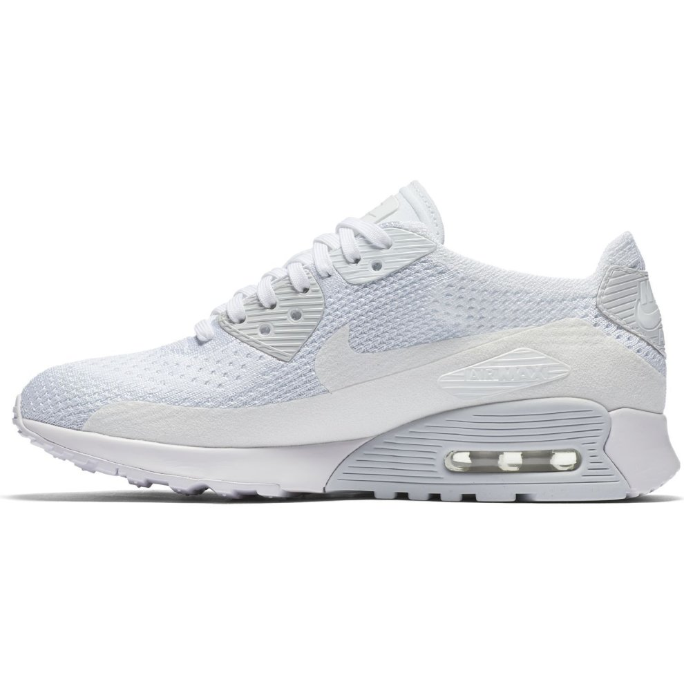 293c2f66fc ... New Womens Nike Air Max 90 Ultra 2.0 Flyknit Trainers White 881109 104  - 2 ...