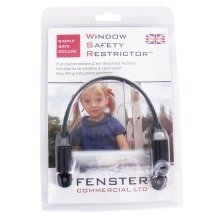 Fenster Window Restrictor Lock 20cm - Black