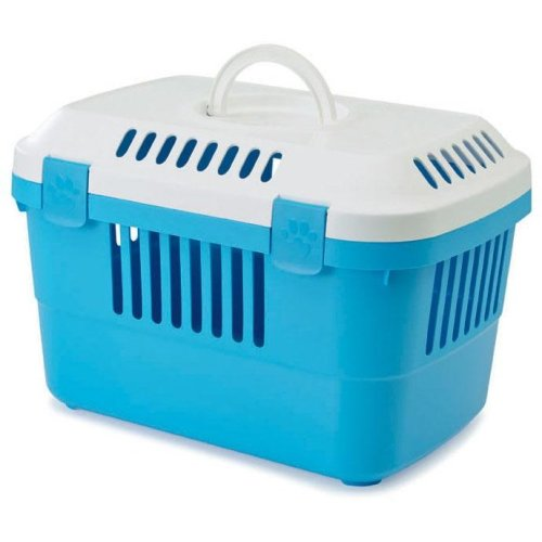 Discovery 1 Pet Carrier White/pacific Blue 48.5x33x31.5cm (Pack of 4)