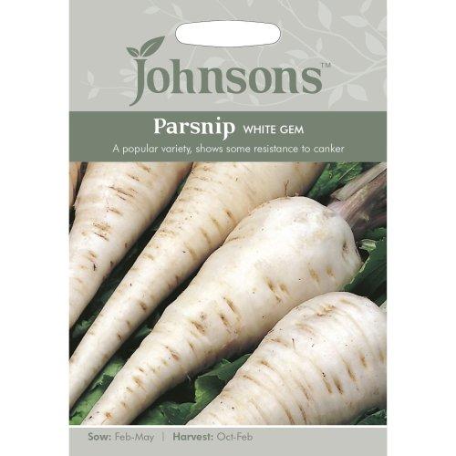 Johnsons Seeds - Pictorial Pack - Vegetable - Parsnip White Gem - 500 Seeds