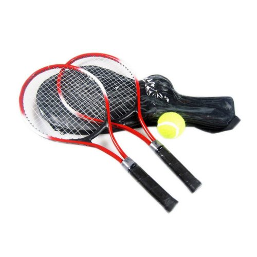 2 Packs ( one is blue, another is red) Tennis Rackets for Kids, Sport Supplies