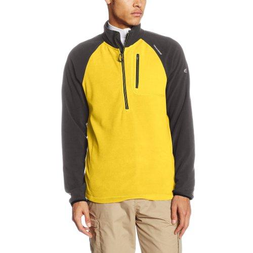 Craghoppers Men's Salisbury Half Zip Micro Fleece Jacket - Sulphur Yellow/Dark Grey, X-Large