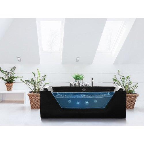 Black Whirlpool Bath SAMANA