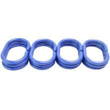 12 PCS Bathroom Accessories Shower Curtains Hooks Curtain Rings Type C- Blue