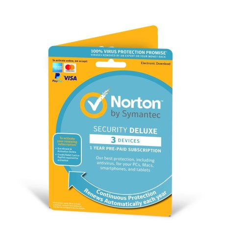 Norton Security Deluxe 2019 1 User & 3 Devices - New Enrolment Version