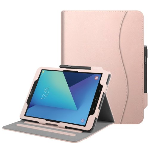 online retailer 22021 4d607 Fintie Samsung Galaxy Tab S3 9.7 Case, [Corner Protection] Multi-Angle  Viewing Stand Cover with Protective S Pen Holder Card Pocket Auto  Sleep/Wake...