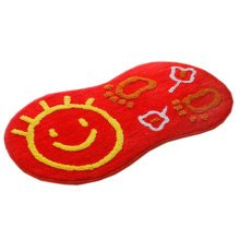 """Creative Fashion Lovely Smiling Non-slip Fuzzy Doormats Rugs Red 14.9""""*28"""""""