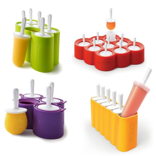 Genuine Zoku Slow Pops - Easy to Remove Silicone Ice Lolly Moulds W/ Drip Guards