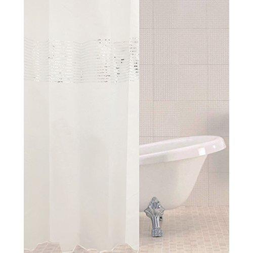 Sabichi Vegas Polyester Shower Curtain - Sequin Detail 180 x 180cm 179432 -  sabichi vegas polyester shower curtain sequin detail 180 x 180cm 179432