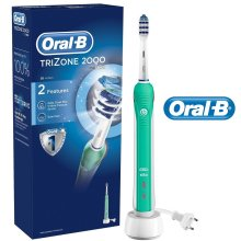 ORAL-B Braun Trizone 2000 Rechargeable Electric Toothbrush + 1 Brush Head New