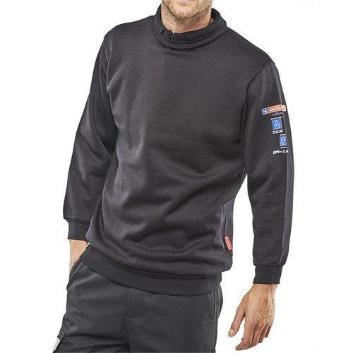 Click CARC3N4XL ARC Compliant Flame Retardant Sweat Shirt Navy Blue XXXXL