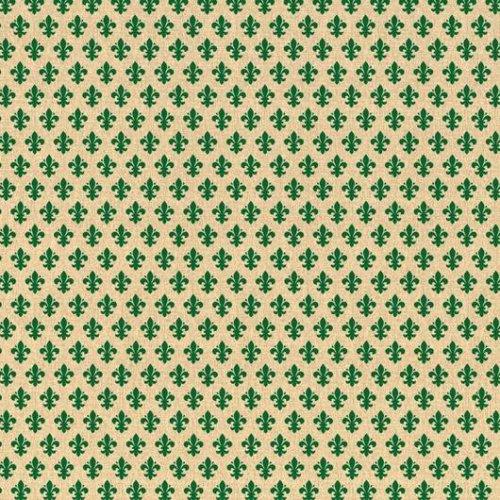 d-c-fix Sticky Self-Adhesive Decor Vinyl Film Fleur de Lys Green 450mm/m