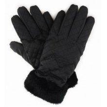 Ladies Black Padded Polyester Winter Gloves