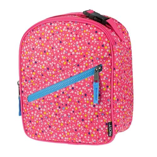 (Poppies) PackIt Upright Lunch Bag | Freezable Kids' Cooler
