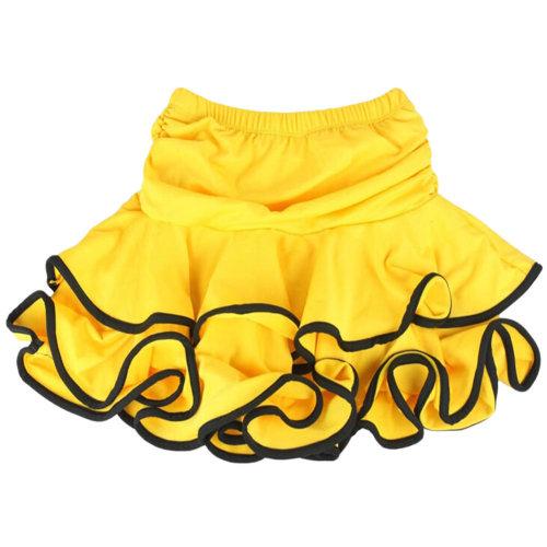 Beautiful Girls Latin Dance Skirt Latin Practice Dress M, YELLOW