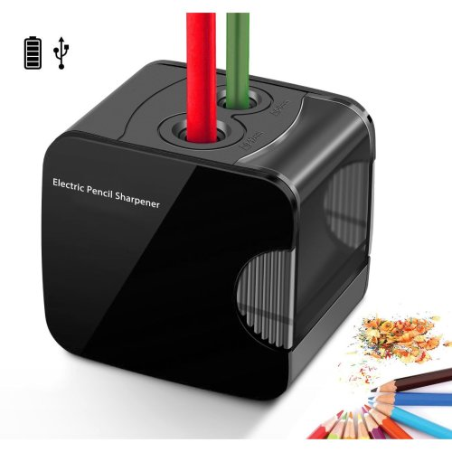 Electric Pencil Sharpener, Powered By USB or Battery Operated