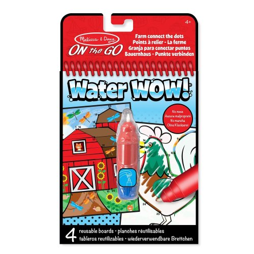Melissa & Doug On the Go Water Wow! Reusable Water-Reveal Activity Pad - Connect the Dots Farm