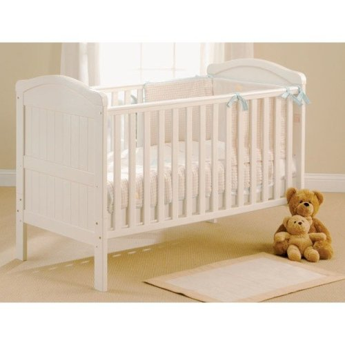 East Coast Country Cot Bed in White
