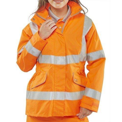 Click LBD35ORL Ladies Executive Hi Vis Orange Jacket Size 14 Large