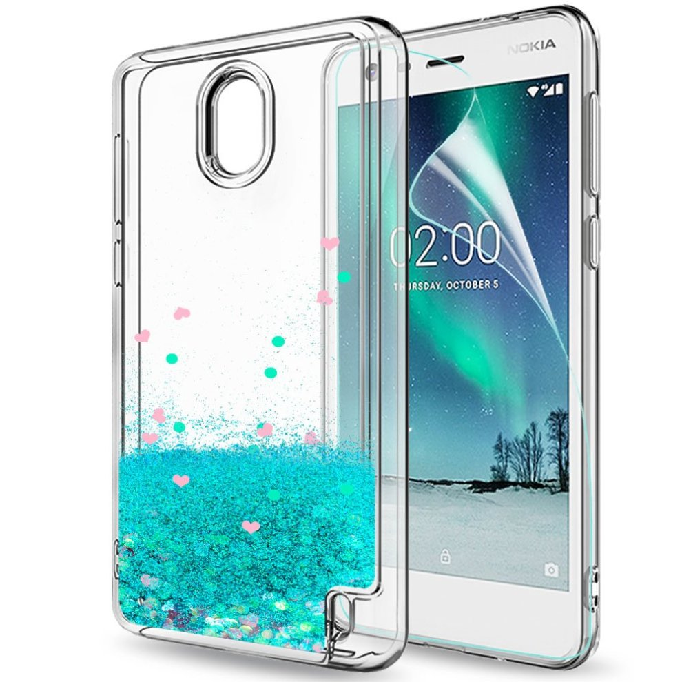 ... Nokia 2 Case with HD Screen Protector for Girls Women 8723e0043
