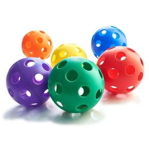 Plastic Play Balls Softball Size Set of 6
