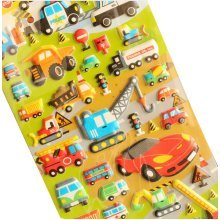 5 Sheets Funny Cartoon Stickers Children Decorative Toys[Car]