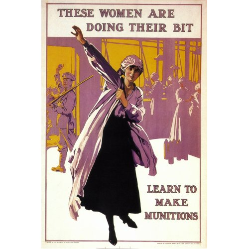 Advertising poster - These Women Are Doing Their Bit - High definition printing on stainless steel plate