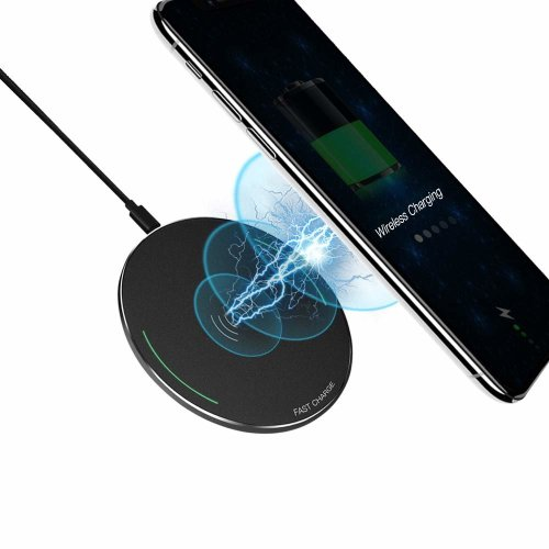 pretty nice 61db5 fd7ac Fast Wireless Charger Metal Case - Evershop 10W Qi Certified Wireless  Charging Pad for Samsung Galaxy Note 8 S8 Plus S8+ S8 S7 Edge Note 5 and...