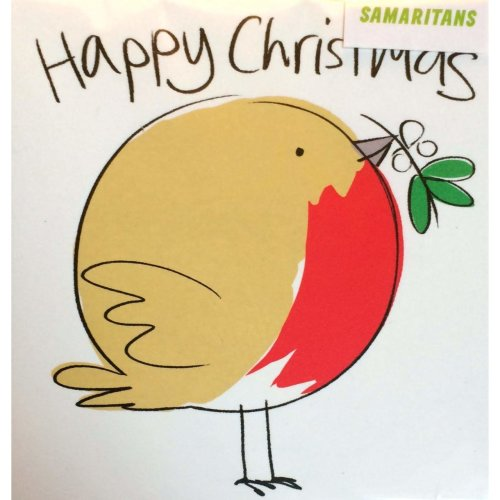 Christmas Charity Cards ~ Pack 5 Cards sold in aid of SAMARITANS ~ Robin