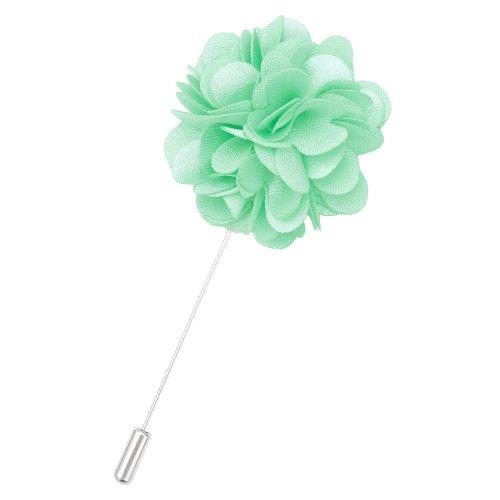 Mint Green Plain Satin Lapel Pin