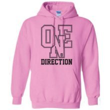 Small Ladies Pink One Direction Athletic Logo Hooded Top -