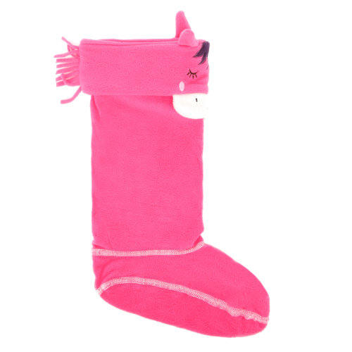 Joules Junior Pink Horse Smile Welly Socks