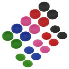ZedLabz concave & convex soft silicone thumb grips for Sony PS4 analog sticks - 20 pack multi colour