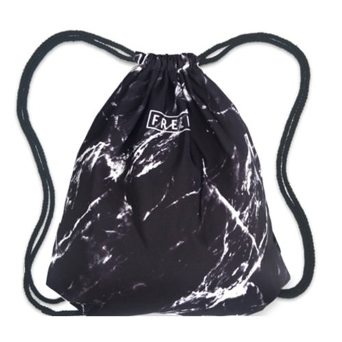 Drawstring Bag Unisex Gym Bag Sport Rucksack Shoulder Bag Hiking Backpack #24