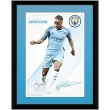Manchester City Sterling 16/17 Collector Print